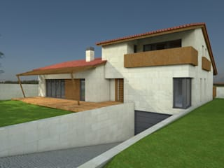 VIVIENDA UNIFAMILIAR EN SEIXALBO: Casas de estilo  de arquitectura SEN MÁIS