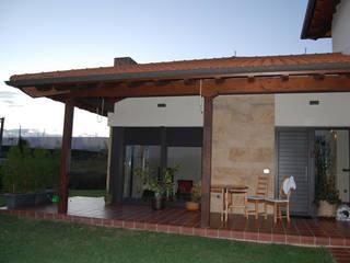 Vivienda en Siero 1: Terrazas de estilo  de Eva Fonseca estudio de arquitectura