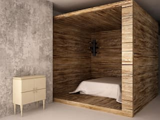SHKAF interior architects Eclectic style bedroom