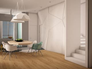 Minimalist dining room by SHKAF interior architects Minimalist