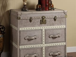 Vintage Leather Storage Cabinet Locus Habitat Living roomStorage