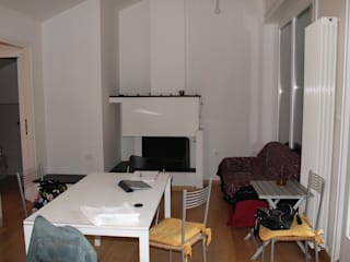 La zona giorno:  in stile  di FOSCA de LUCA Home Stager & Redesigner