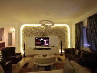 DerganÇARPAR Mimarlık 现代客厅設計點子、靈感 & 圖片