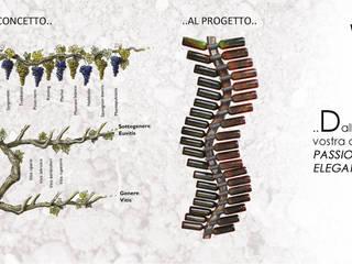 VITIS wall.:  in stile  di MICHELE MALIN DESIGN