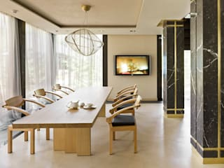 Minimalist dining room by FullHouseDesign Minimalist