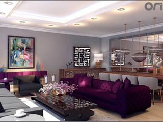 Koru Florya Salon Tasarımı Eklektik Oturma Odası Origami Mobilya Eklektik