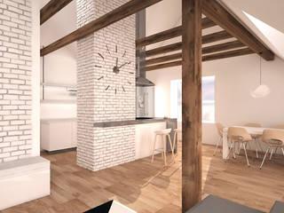 Minimalist dining room by creo:line Pracownia Architektury Karolina Czech Minimalist