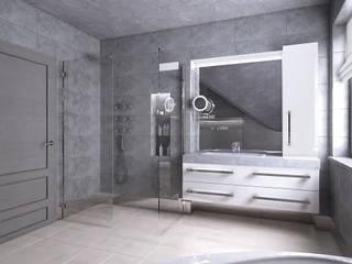 Minimalist style bathroom by creo:line Pracownia Architektury Karolina Czech Minimalist
