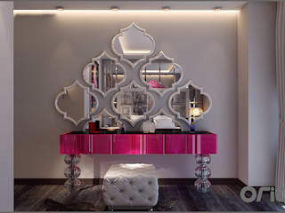 Camera da letto eclettica di Origami Mobilya Eclettico