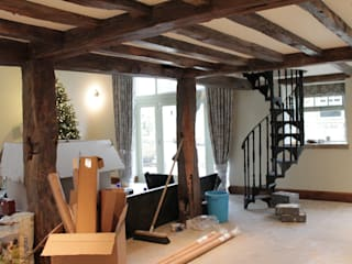 Barn Conversion Vanessa Rhodes Interiors Ruang Keluarga Gaya Country