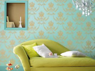 Paredes y pisos de estilo ecléctico por TapetenStudio.de