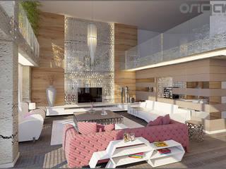 Ruang Keluarga Gaya Eklektik Oleh Origami Mobilya Eklektik