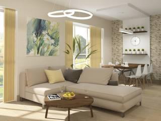 Проект дизайна интерьера в загородном доме:  в современный. Автор – e.v.a.project architecture & design, Модерн