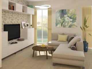 Проект дизайна интерьера в загородном доме Гостиная в стиле модерн от e.v.a.project architecture & design Модерн