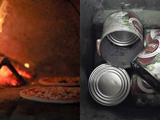 Pizza e le latte di pomodoro:  in stile  di Izmade