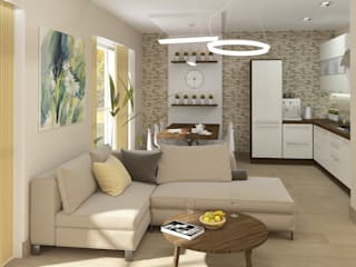Проект дизайна интерьера в загородном доме Столовая комната в стиле модерн от e.v.a.project architecture & design Модерн