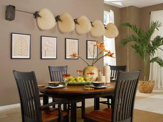 CASA BRUNO Wandventilator PUNKAH, Fächer aus echtem Palmblatt: tropische Wohnzimmer von Casa Bruno - the way to feel good