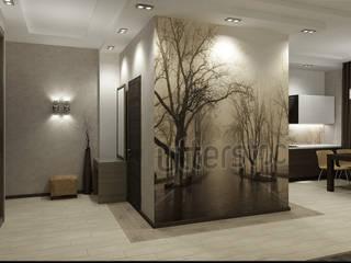 Квартира холостяка Коридор, прихожая и лестница в модерн стиле от Efimova Ekaterina Модерн