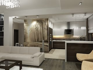 Квартира холостяка Кухня в стиле модерн от Efimova Ekaterina Модерн
