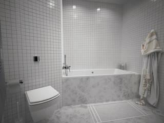 Хрущевка: Ванные комнаты в . Автор – Максим Любецкий, Минимализм