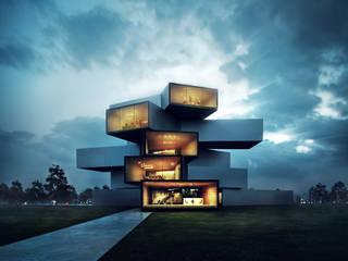 Modern House Modern houses by Merêces Arch Viz Studio Modern