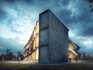 Creative Hub Modern houses by Merêces Arch Viz Studio Modern