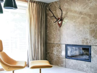 Salones modernos de Pracownia Architektury Cechownia Moderno