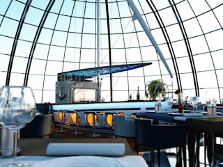 BA DESIGN Modern balcony, veranda & terrace