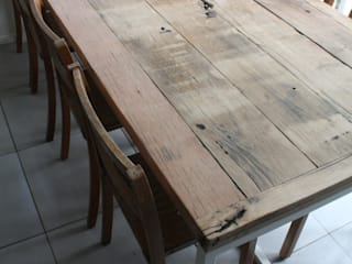 Deben Table in Reclaimed French Oak Salvation Furniture CuisineTables, chaises & bancs