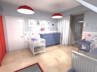 Dom jednorodzinny Jaworzno - 2014/2015 Skandynawski pokój dziecięcy od Orange Studio Skandynawski