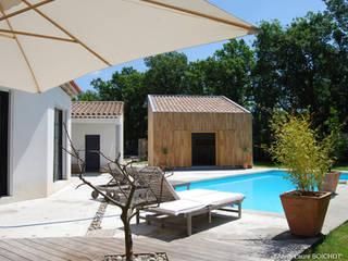 CELONY AIX-EN-PROVENCE Balcon, Veranda & Terrasse originaux par Anne-Laure BOICHOT Architecte BOIS Éclectique