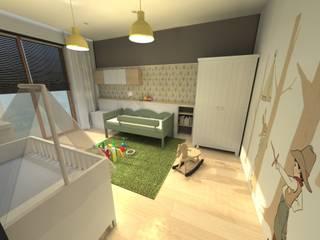 """Apartament """"Wiślane Tarasy"""", ul. Grzegórzecka, Kraków - projekt 2013r. Skandynawski pokój dziecięcy od Orange Studio Skandynawski"""