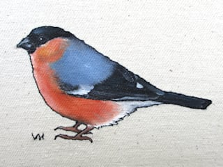 Small Bird Series - Embroidered and Painted Birds :   by Lottie's Cottage
