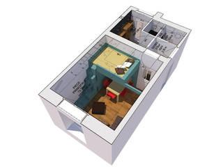 Studio Girodet Salon minimaliste par Pierre Georges Architecte Minimaliste