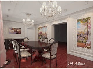 Dining room by студия авторского дизайна  Альбины Сибагатулиной