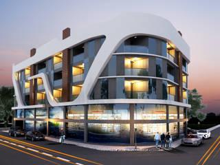 Espaces de bureaux modernes par MİNERVA MİMARLIK Moderne