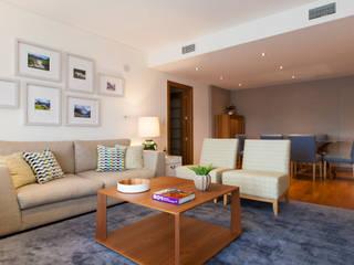 Apartamento c/ 1 quarto - Colinas do Cruzeiro, Odivelas: Salas de estar  por Traço Magenta - Design de Interiores