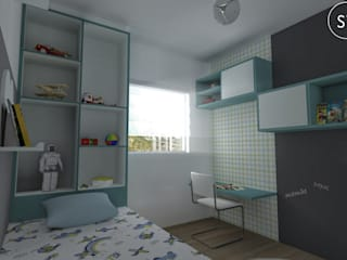 Chambre d'enfant moderne par start.arch architettura Moderne