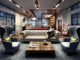 Salas de estilo moderno por Merêces Arch Viz Studio
