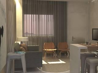 ห้องนั่งเล่น โดย Santiago   Interior Design Studio , ผสมผสาน