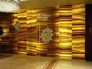 Back Lit Faux Alabaster Asian style offices & stores by ShellShock Designs Asian