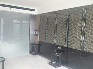 Laminated Glass Art Panels in Beijing W Hotel ShellShock Designs Hôtels asiatiques