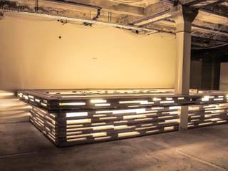 L17 Modular architecture for semi permanent art/event space:  Gastronomie von SEREIN Konzeptkunst & Mikroarchitektur
