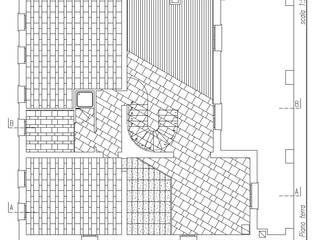 Pianta piano terra e schema posa pavimentazione:  in stile  di massimo spagnolo architetto
