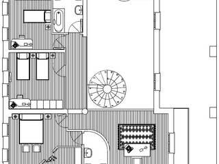 Pianta primo piano:  in stile  di massimo spagnolo architetto