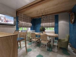 Mediterranean style dining room by Студия дизайна Натали Хованской Mediterranean