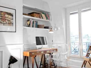 Rustic style study/office by Cocottes Studio Rustic