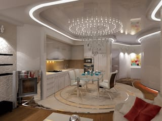 Студия дизайна Натали Хованской Eclectic style dining room