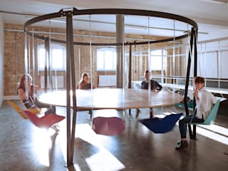 THE KING ARTHUR, ROUND SWING TABLE:   by Duffy London,