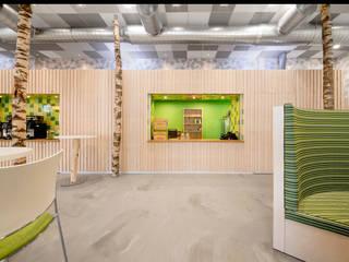 Biologiosche broodjes, sappen en goede koffie :  Kantoorgebouwen door CUBE architecten